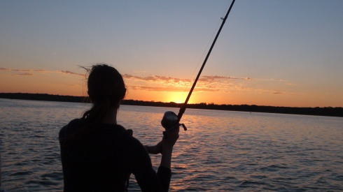Early morning fishing - Lake Fayette
