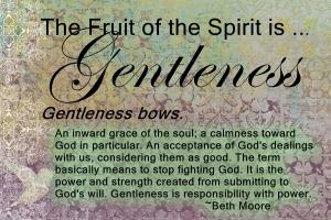 gentleness~Beth Moore