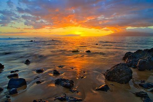 wailea-beach-maui-sunset